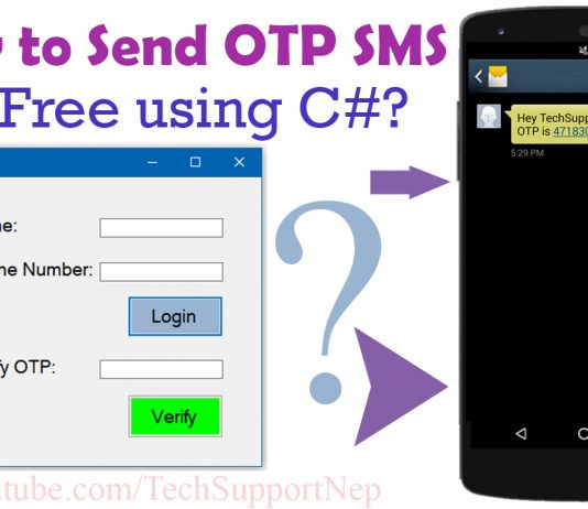 How to Generate and Send OTP SMS For Free Using C#