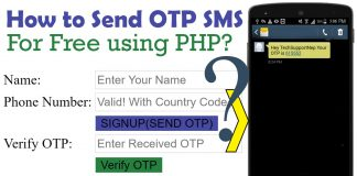 how to generate and send otp using php?