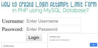 How to Create Login Attempt Limit Form in PHP?