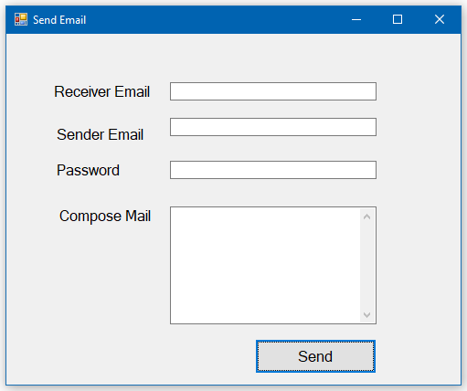 How to send email using c#?