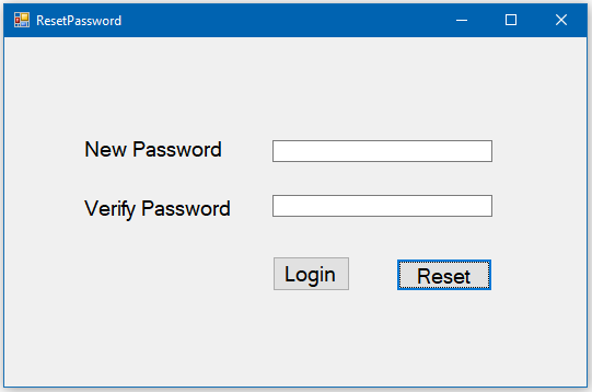 How to Create Forgot Password and Login from in C#?